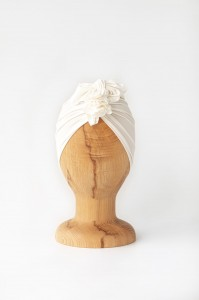 Turban bambusowy Light Pearl White / Looks by Luks