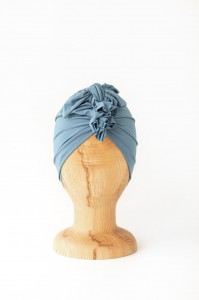 Turban bambusowy Light China Blue / Looks by Luks