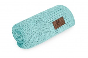 Bambusowy kocyk Turkusowy Ultra Soft Perfect Sage / Sleepee