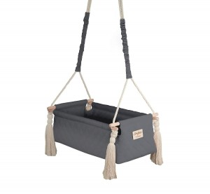 Kołyska NewBorn Swing - Dark Gray / Babysteps